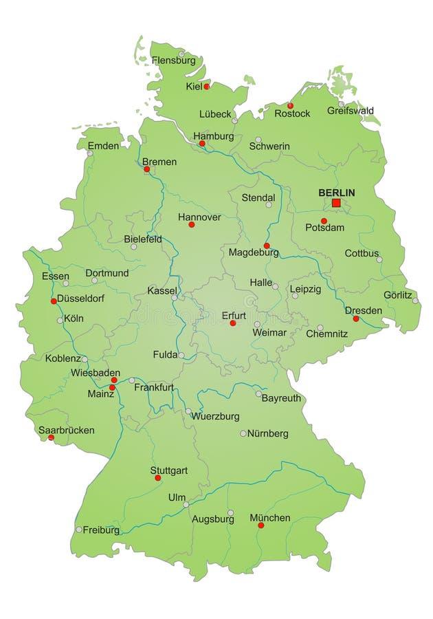 德国映射 向量例证