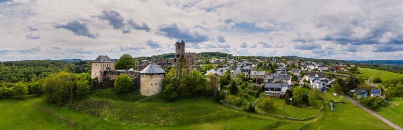 德国格赖芬斯坦城堡高清全景 库存照片