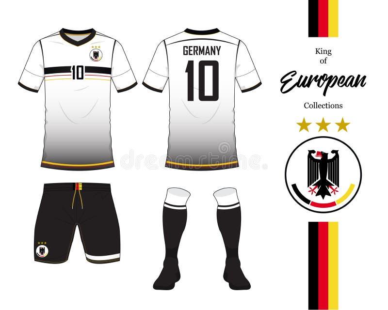 德国橄榄球国家队制服 向量例证