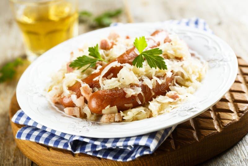 德国泡菜炖煮的食物 免版税图库摄影