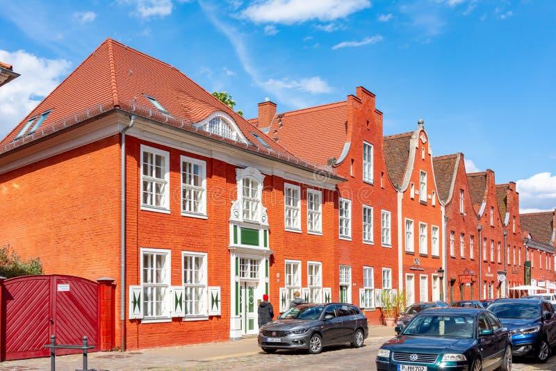 德国波茨坦,2019年5月:波茨坦荷兰区 免版税库存图片
