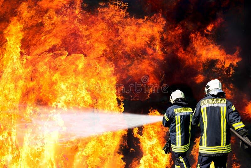 德国消防队员 免版税库存照片