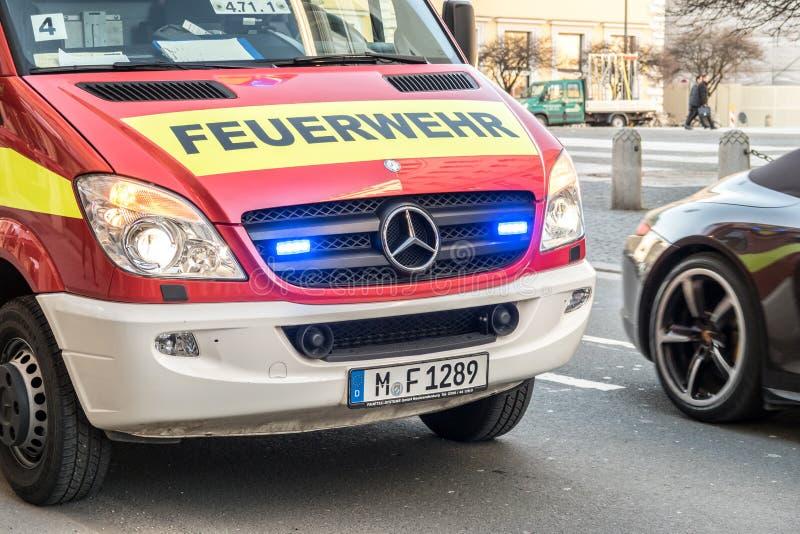 德国消防队 免版税图库摄影