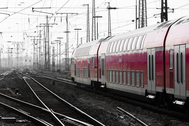 德国火车和黑白 免版税库存图片