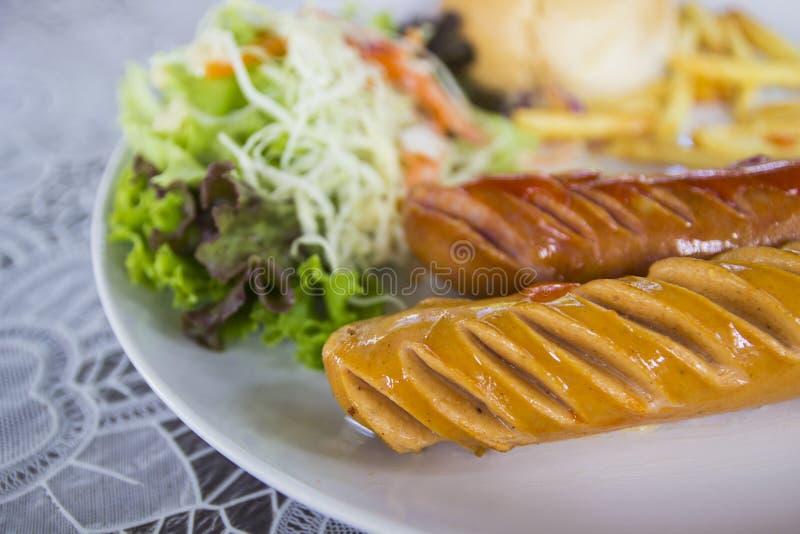 德国烤香肠 免版税库存图片