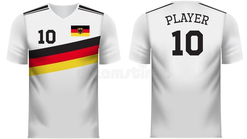 德国爱好者炫耀在普通国家颜色的T恤杉 向量例证