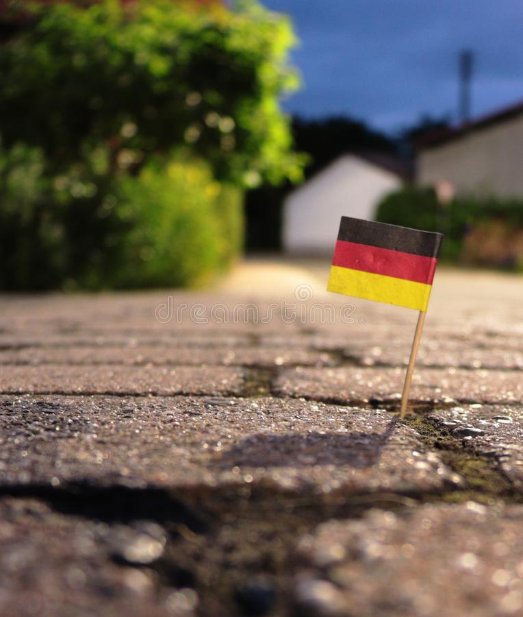 德国牙签旗子 库存照片