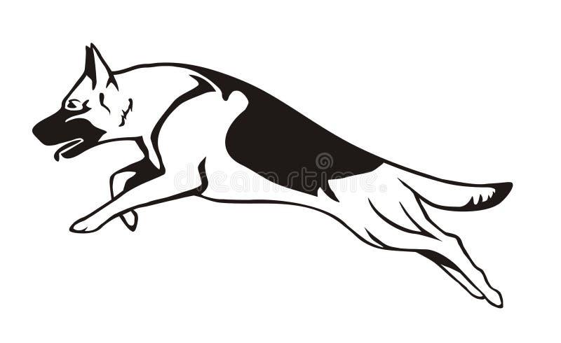 德国牧羊犬动画片 向量例证