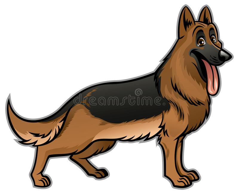 德国牧羊犬狗 向量例证