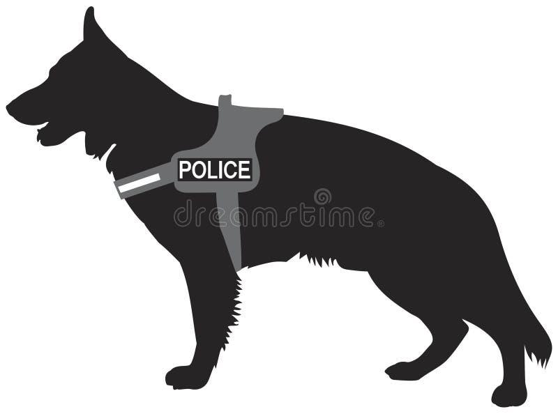 德国牧羊犬警犬K9 向量例证