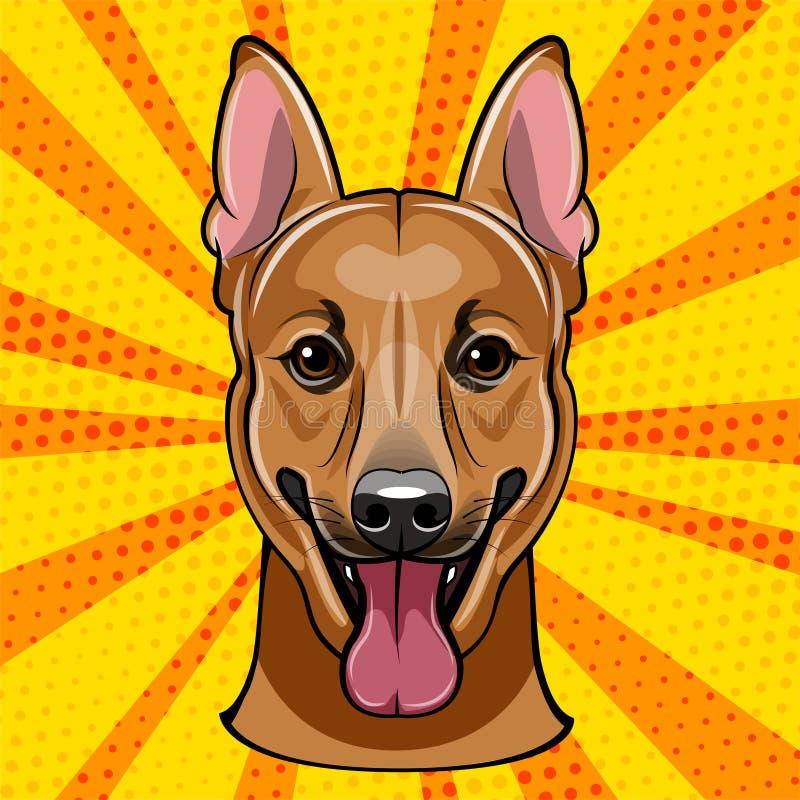 德国牧羊犬 狗品种 减速火箭的纵向 也corel凹道例证向量 皇族释放例证
