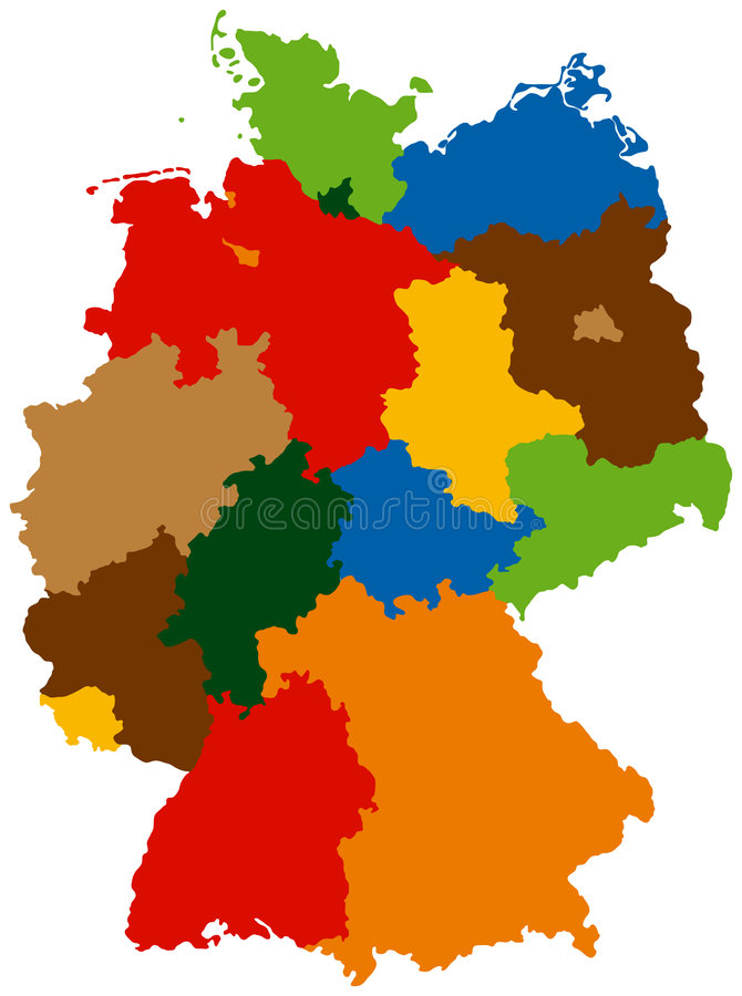 德国状态 库存例证