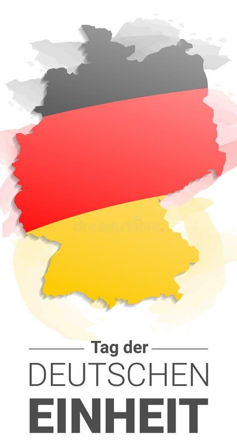 德国独立日概念背景,手拉的样式 库存例证