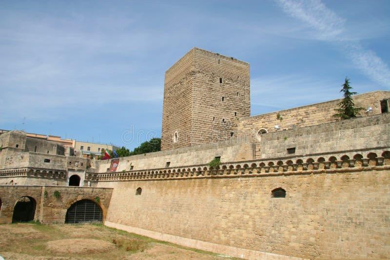 德国的兹瓦本地方城堡或Castello Svevo,巴里,普利亚,意大利 图库摄影