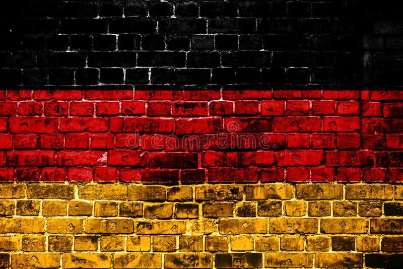 德国的国旗砖背景的 图库摄影