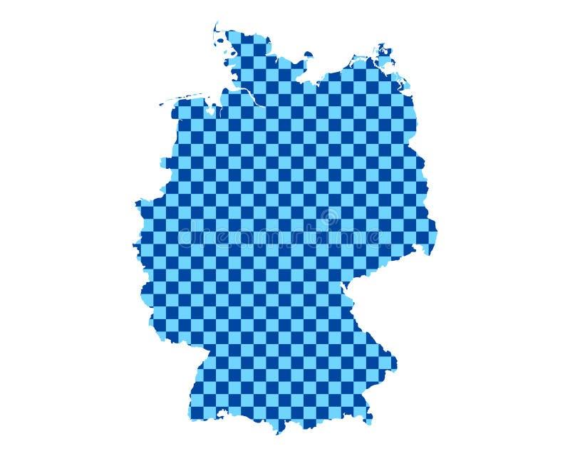 德国的地图棋盘样式的 向量例证