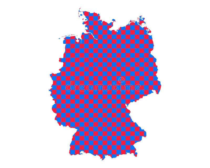 德国的地图棋盘样式的 皇族释放例证