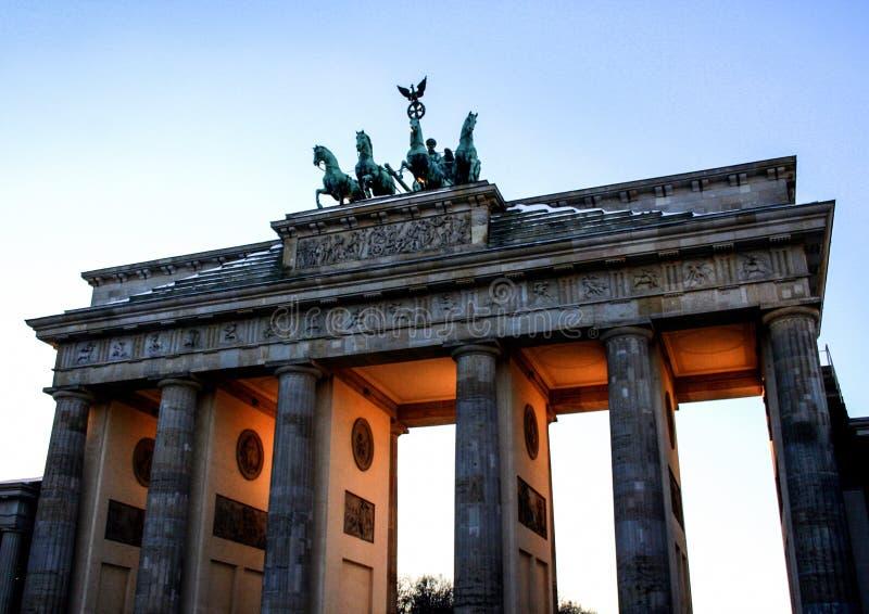 德国的建筑学 大厦在柏林 欧洲旅行在冬天 免版税库存照片图片