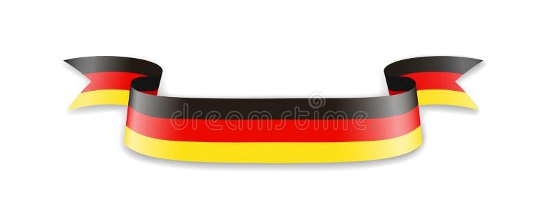 德国的旗子以波浪丝带的形式 向量例证