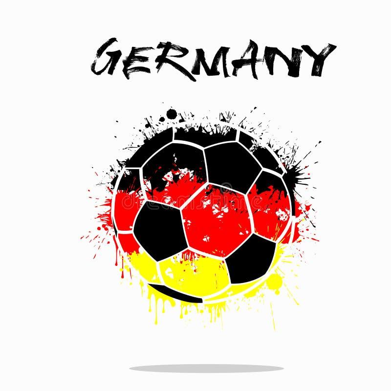 德国的旗子作为一个抽象足球 皇族释放例证