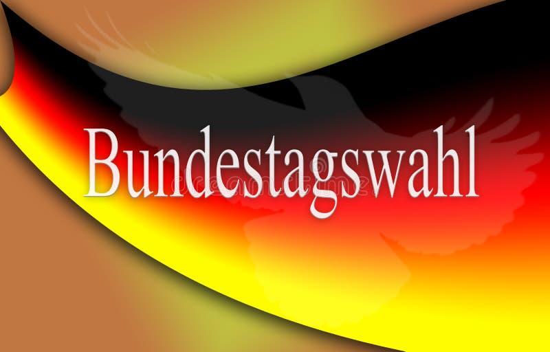 德国的旗子有德国词的,概念联邦竞选 皇族释放例证