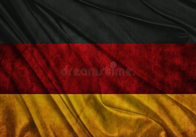 德国的旗子 向量例证