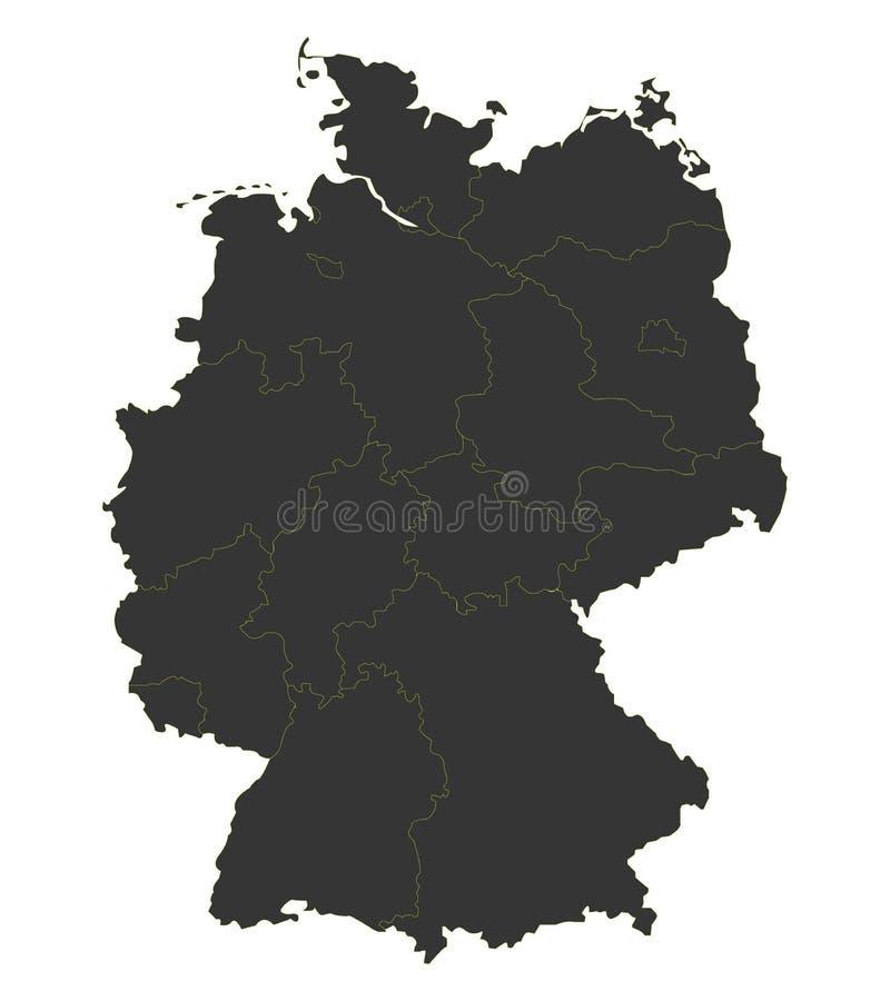 download 德国的黑地图 向量例证.图片