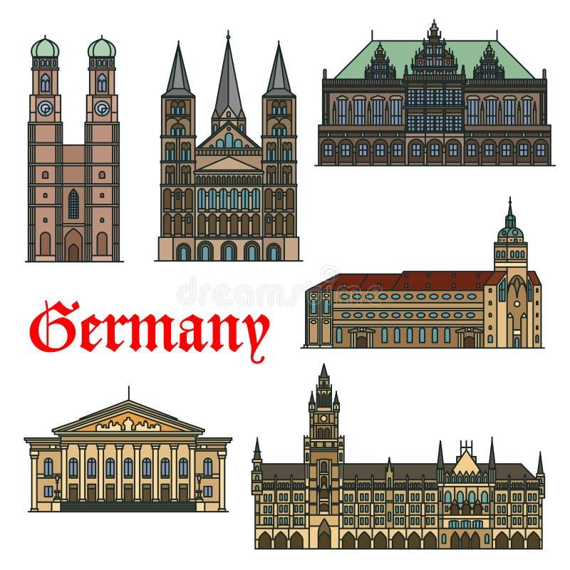 德国的建筑旅行地标 库存例证