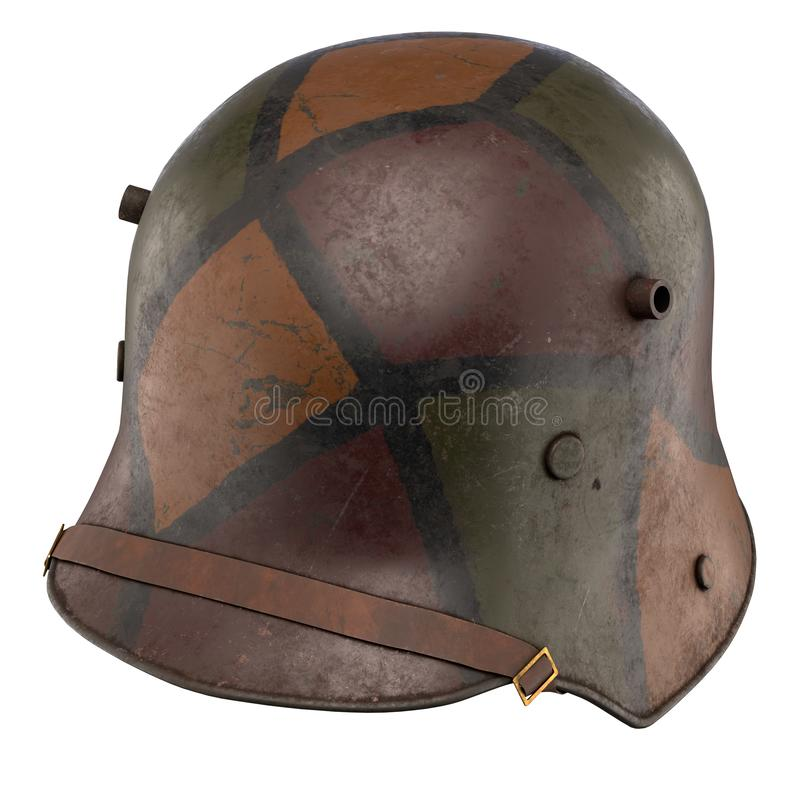 德国盔甲WWI Stahlhelm M1916 库存图片