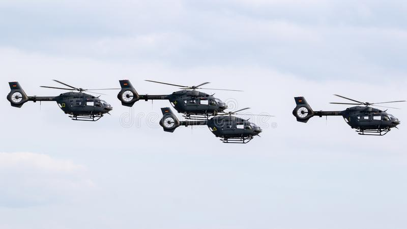 德国空军队空中客车H145M直升机 图库摄影