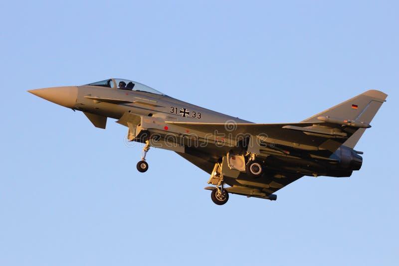 德国空军队Eurofighter台风喷气式歼击机飞机 图库摄影