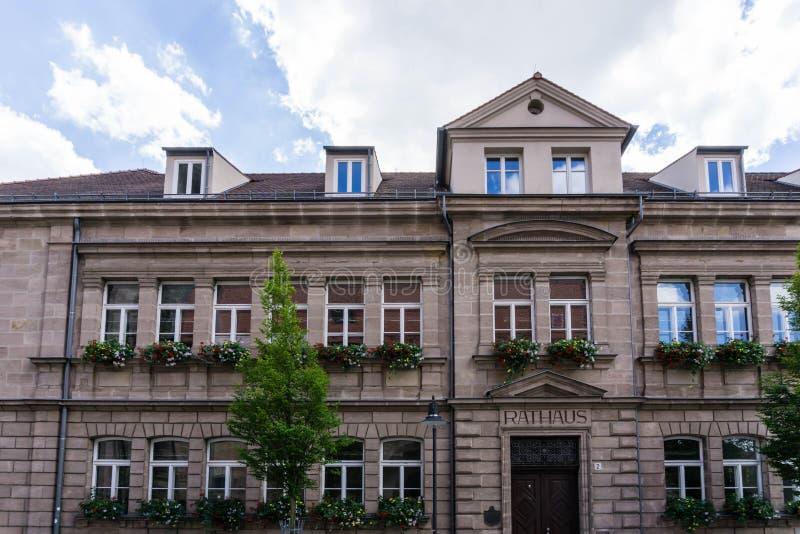 德国罗斯巴伐利亚市政厅 免版税库存图片