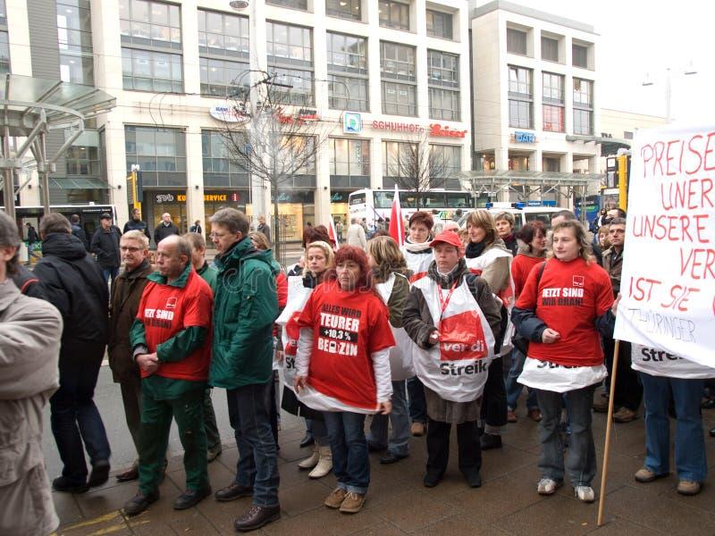 德国罢工 免版税库存照片