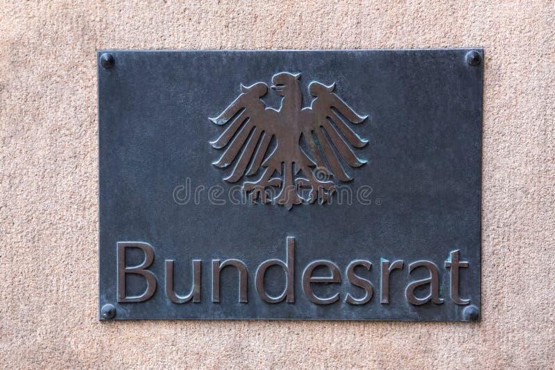 德国联邦理事会标志 免版税库存照片