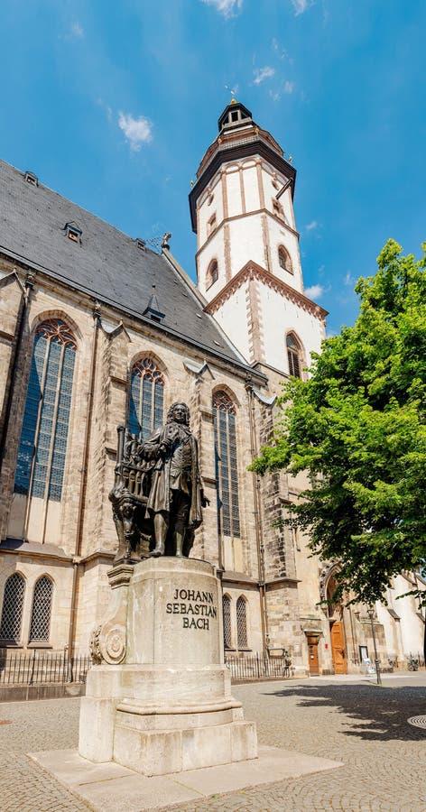 德国莱比锡圣托马斯教堂建筑与外墙 旅游和宗教 免版税库存图片