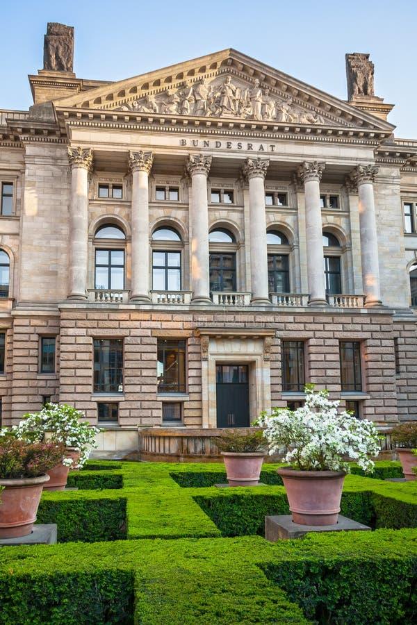 德国西德参议院的外部在柏林,德国 库存图片