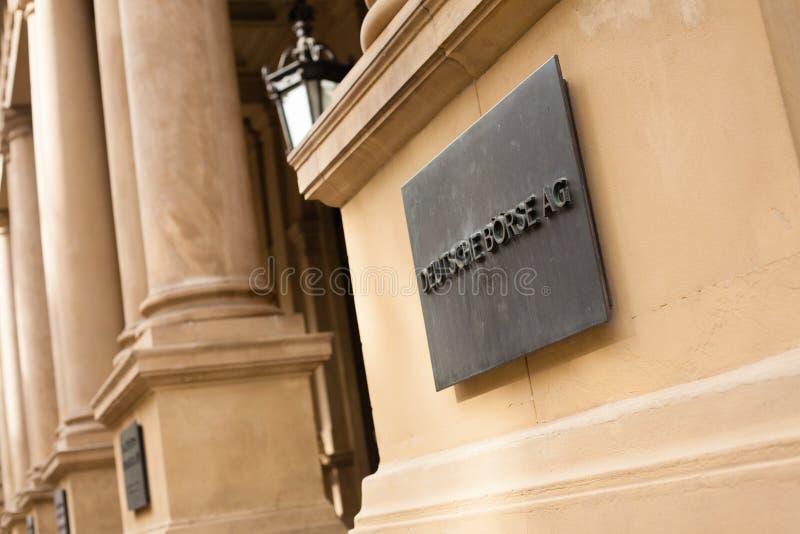 德国证券交易所 免版税图库摄影