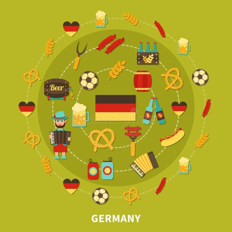 德国象圆的构成 皇族释放例证