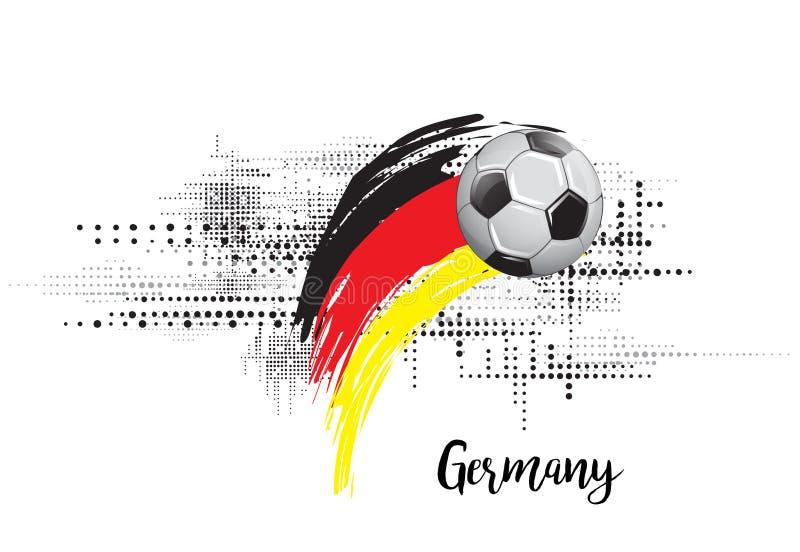 德国足球国家旗子 橄榄球队模板例证 被绘的艺术和小点难看的东西背景 库存例证