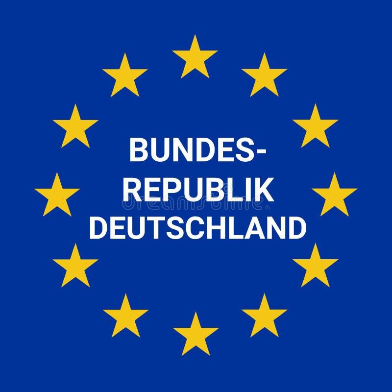 德国边界路标 库存例证