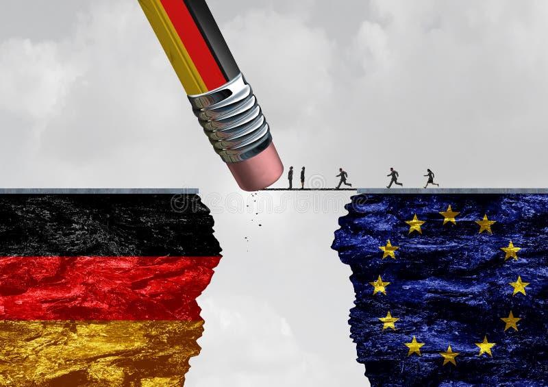 德国边界移民控制 向量例证