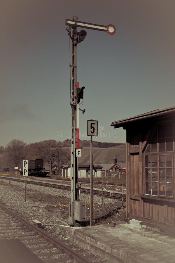 德国铁路信号 库存照片