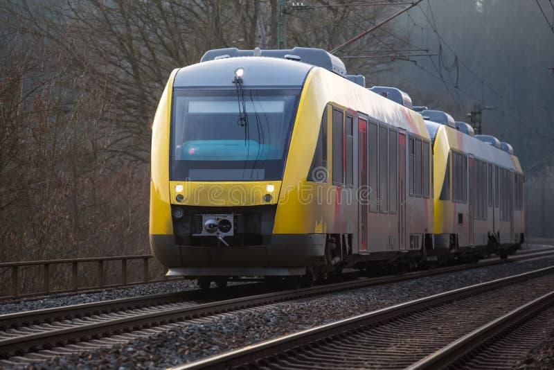 德国铁路旅客列车 免版税库存图片