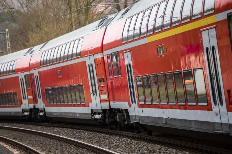 德国铁路旅客列车 免版税库存照片