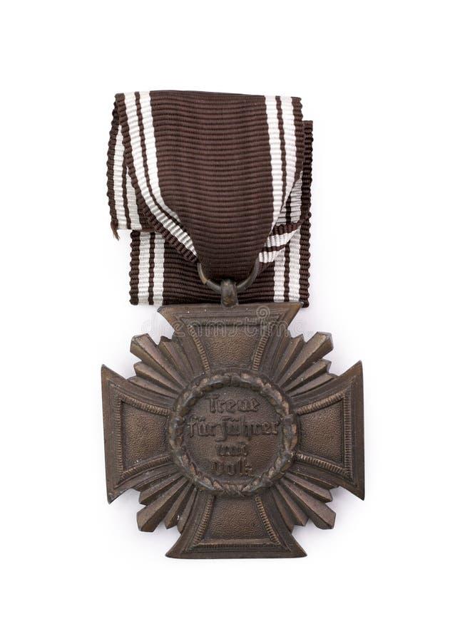德国长的奖牌服务十年 库存照片