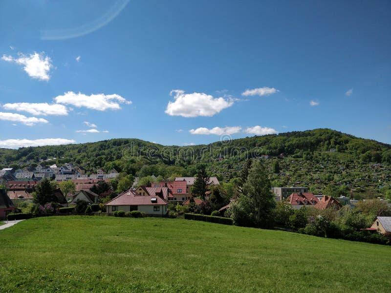 德国风景小山 库存照片