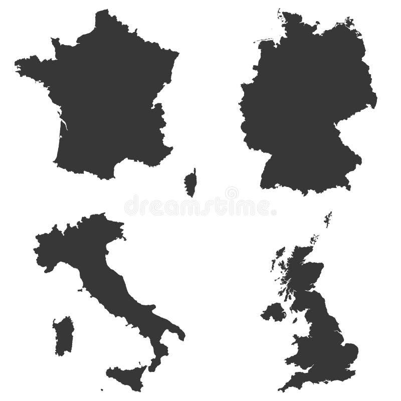 德国,意大利,法国,英国 皇族释放例证