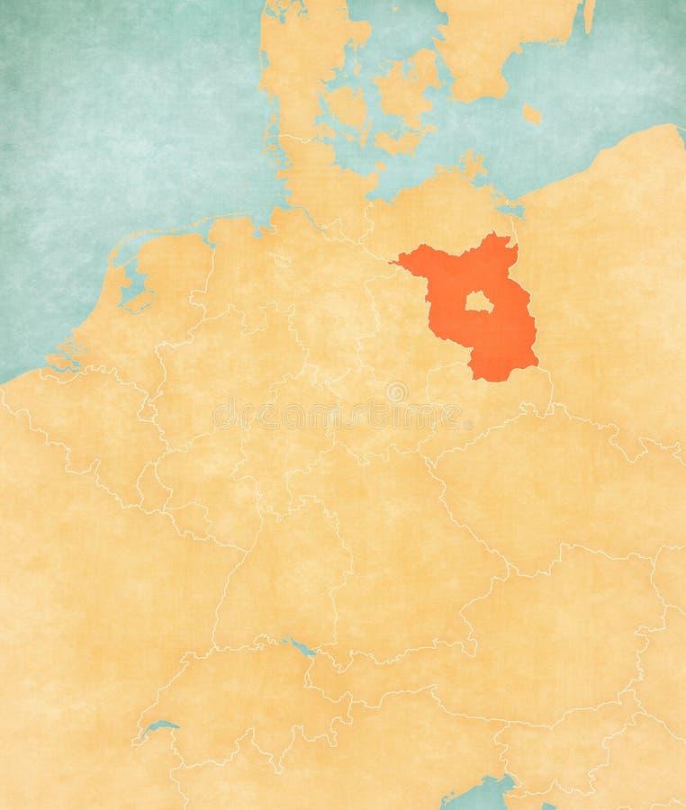 德国-布兰登堡地图  库存例证