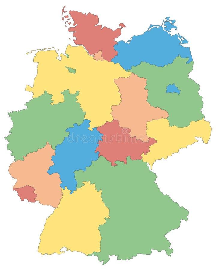 德国-德国的地图-高详细 皇族释放例证