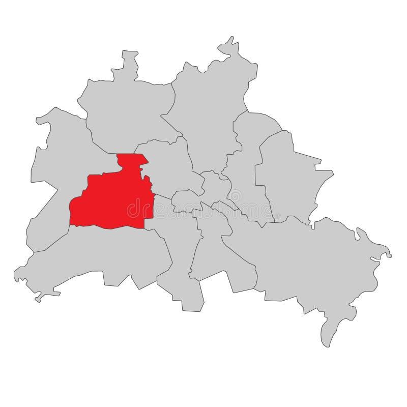 德国-柏林地图-高详细 向量例证